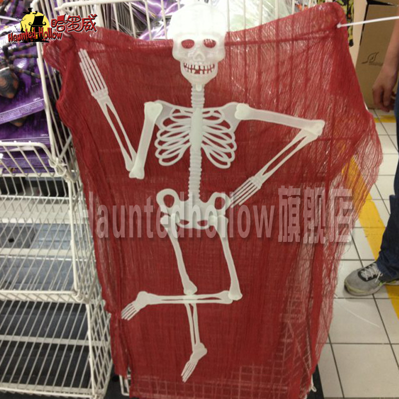 Holloway halloween prank props supermarket bar horror decoration play couple luminous skeleton frame hanging ghost