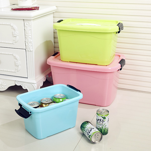 Home storage box three sets of large capacity plastic toys clothes quilt covered storage consolidation crate bins