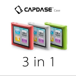 Hong kong capdase apple ipod nano 6 exquisite sets of red white and green combination