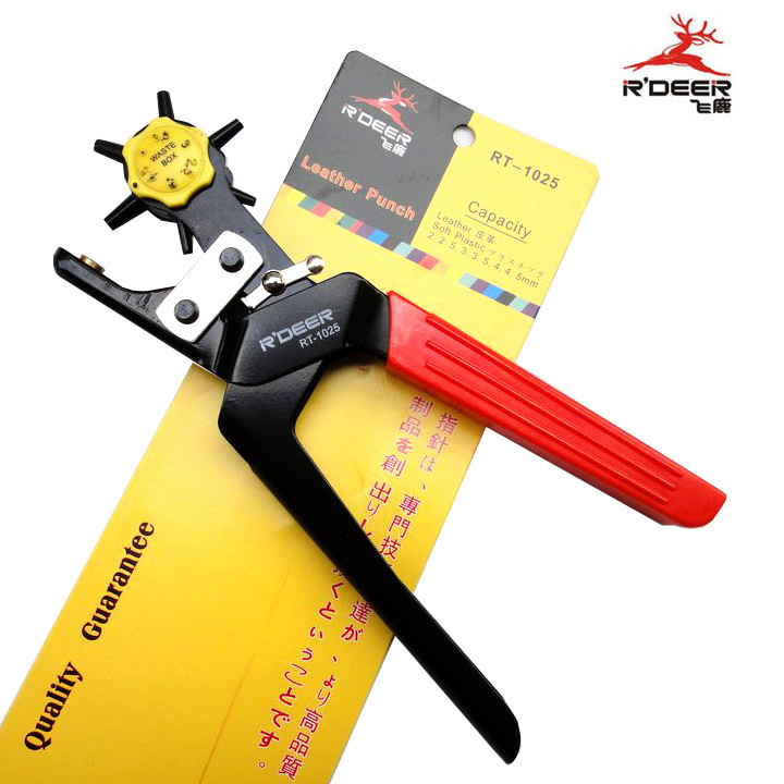 Hong kong flying deer leather hole puncher effort belt hole punch pliers belt punch to send rasp rt-1025