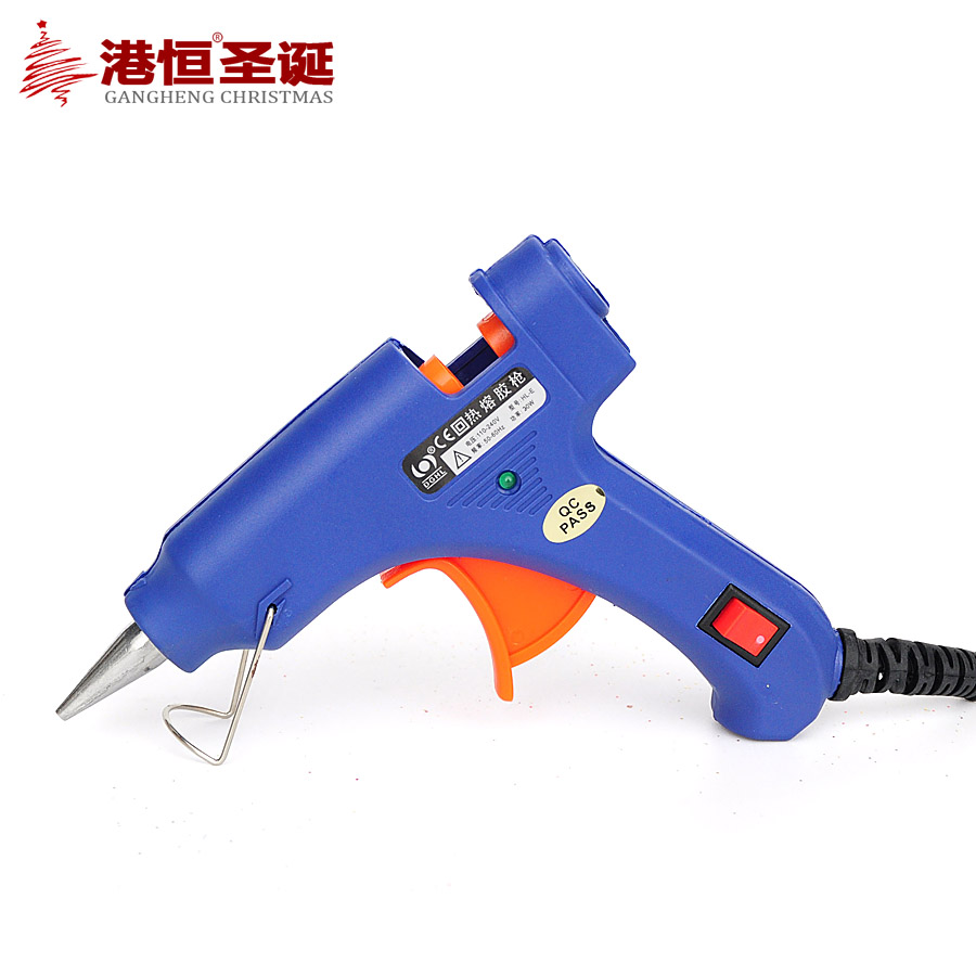 Hong kong hang christmas decorations purpose adhesive glue gun with a switch silicon glass strip hot melt glue gun hot melt glue sticks 160 G