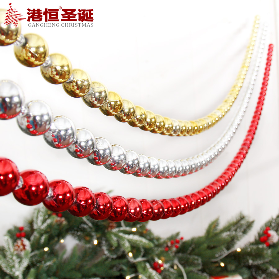 get quotations hong kong hang christmas light ball christmas tree decorations 17 m string hanging chain hanging beads