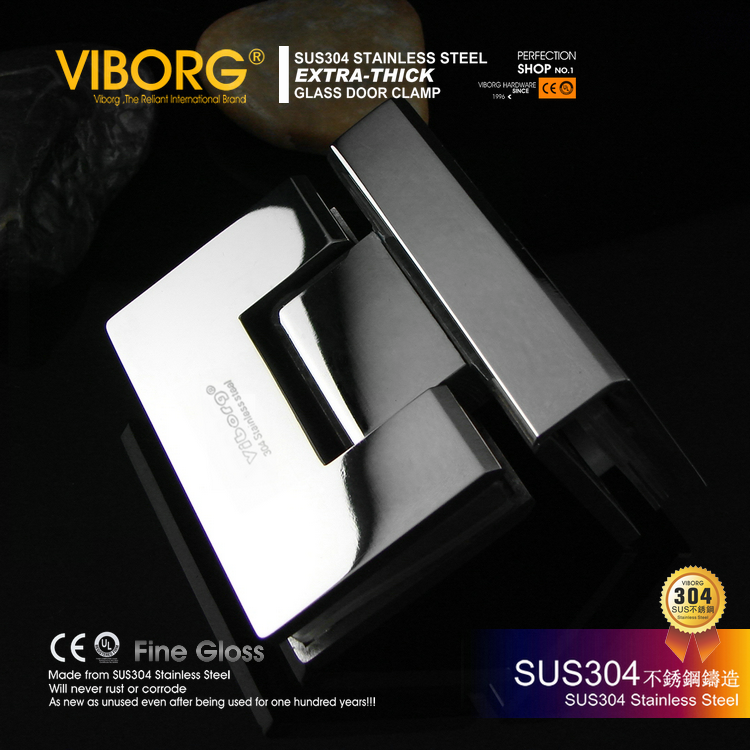 [Hong kong] yu bao cast 304 stainless steel bathroom clip shower room hinge glass door hinge GS-Y90B