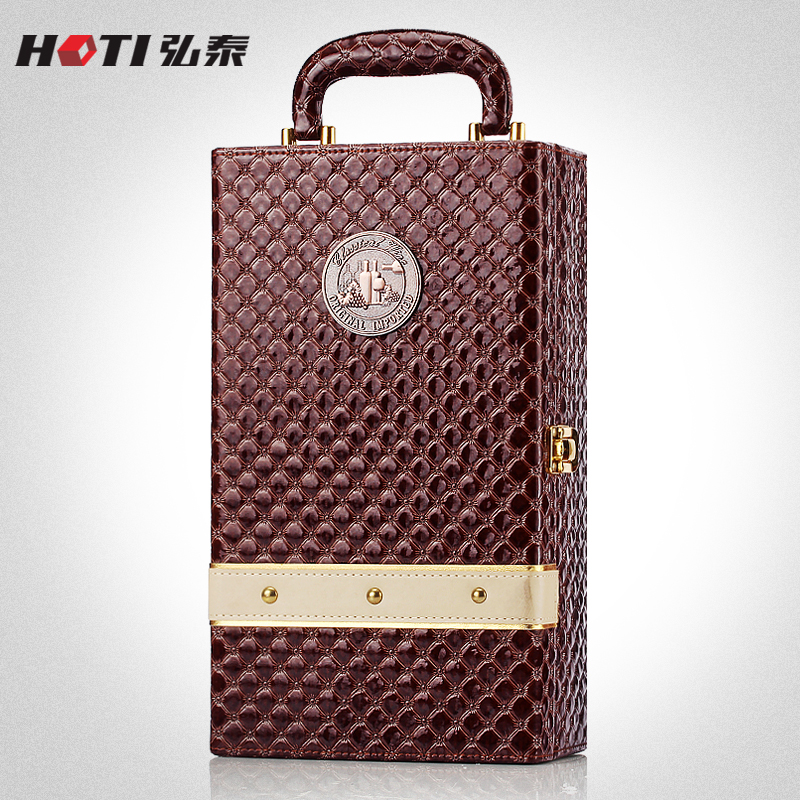 Hong thai new wine box wine gift box wine leather double vessel wine box wine box packaging