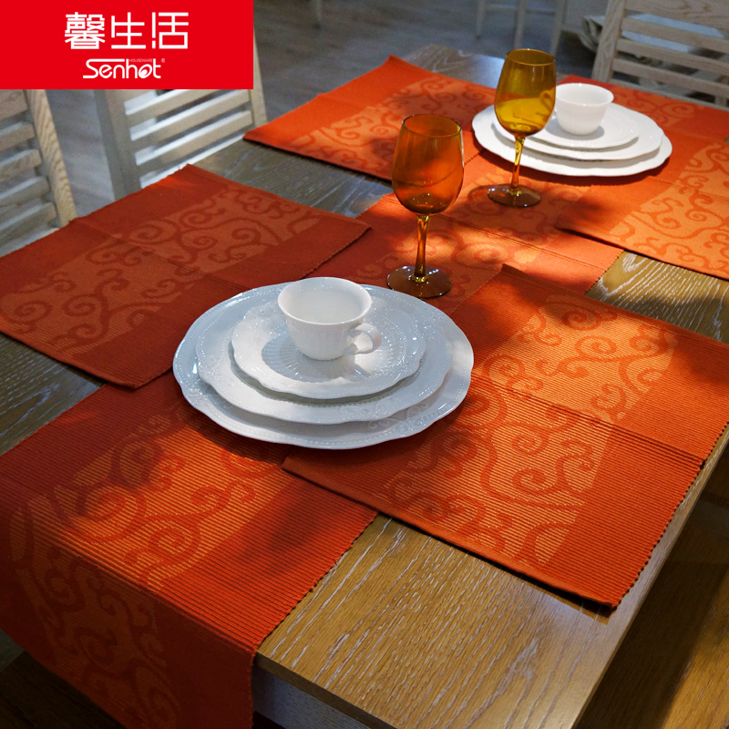 Hope life jacquard placemat chinese cloth insulation mat mat bowls mat coasters placemats students children