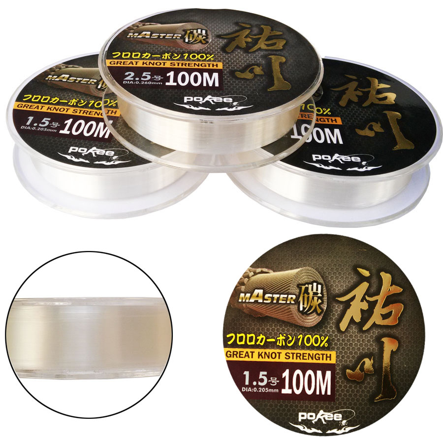 Hot fun in the pacific youchuan 100 m transparent carbon carbon wire line fishing lures pitching line fishing line fishing gear
