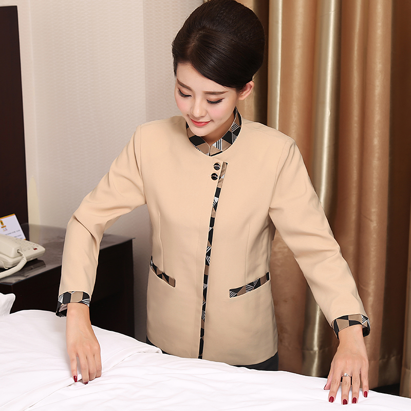 Hotel cleaning clothes fall and winter clothes women long sleeve cleaning service hotel room attendant uniforms fall and winter clothes long sleeve