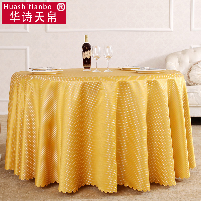 Hotel large round table cloth tablecloth table cloth hotel restaurant round yellow puce custom coffee table cloth
