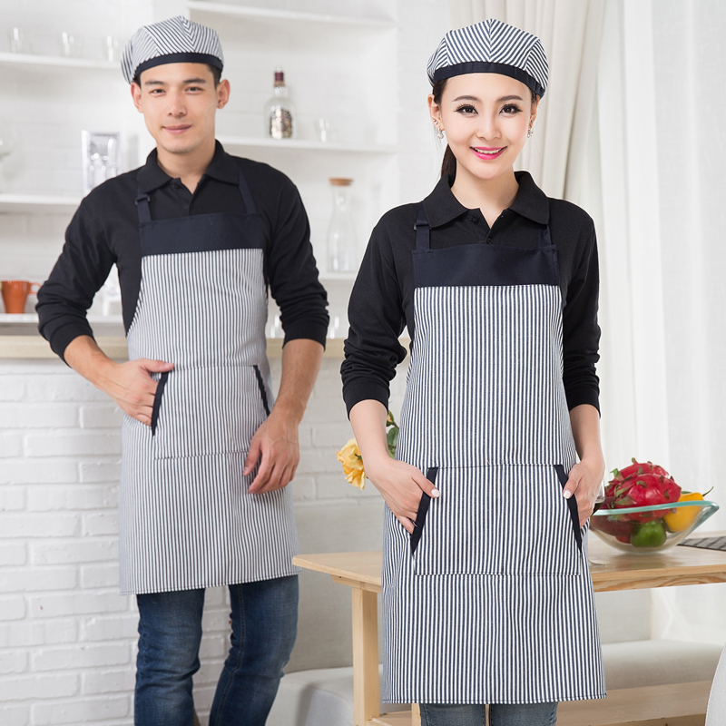 Hotel overalls halter apron kitchen restaurant multicolor apron water and oil repellency halter apron aprons chef cooking