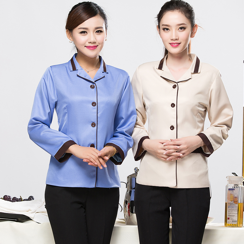 Hotel room cleaning service cleaning sleeved overalls fall and winter clothes hotel cleaning staff uniforms pa cleaning clothes fall and winter clothes long