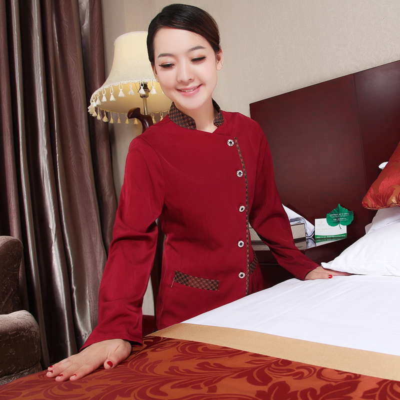 Hotel uniforms female hotel room cleaning staff room attendant uniforms pa hotel cleaning clothes fall and winter clothes long sleeve