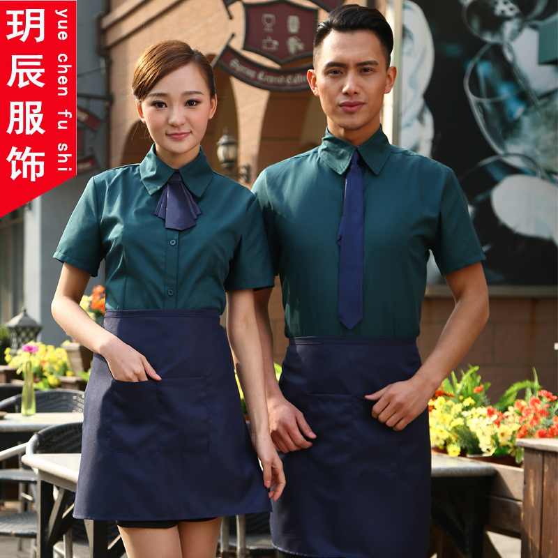Hotel uniforms female summer hotel restaurant waiter overalls sleeved overalls summer hotel restaurant uniforms male