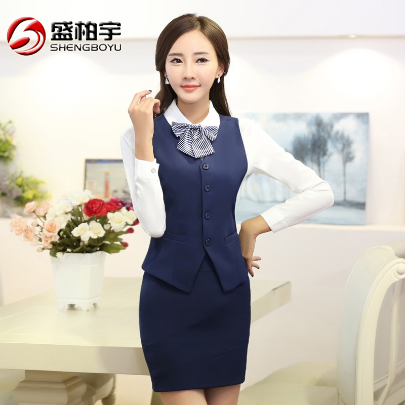 Hotel uniforms spring female waiter vest vest suit hotel front desk cashier system manager foreman clothing