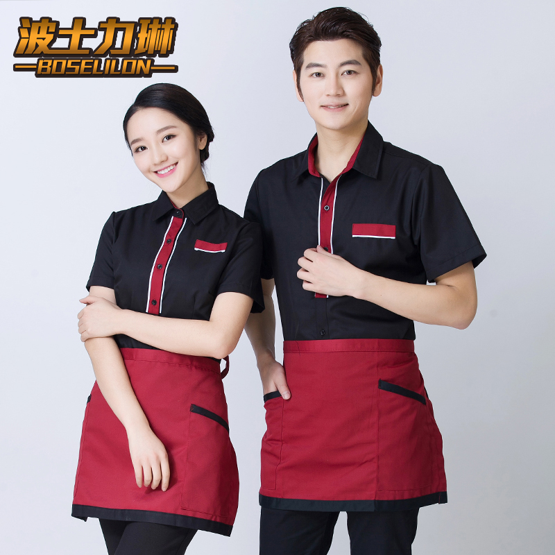 Hotel uniforms summer female restaurant waiter restaurant uniforms ktv hotel dining restaurant uniforms short sleeve