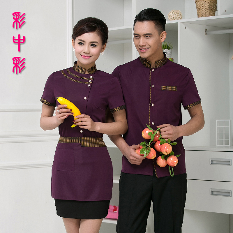 Hotel uniforms summer male and female restaurant hotel restaurant chinese restaurant waiters catering uniforms