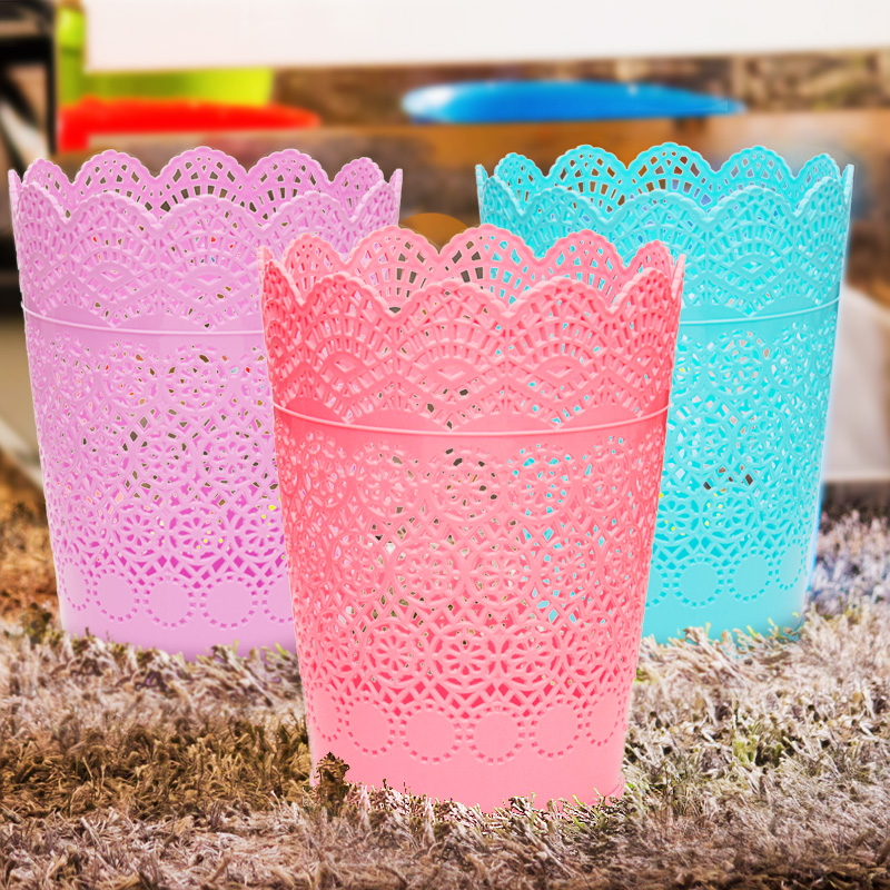 Household size lace lovely living room kitchen trash wastebasket trash fashion trash barrel without cover creative personality continental