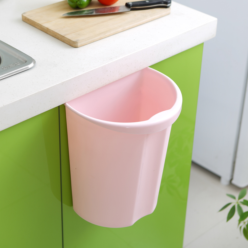 Household wall creative kitchen bathroom trash can plastic trash barrel storage barrels trash debris storage barrels multi