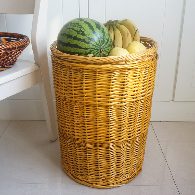 However willow storage barrels rattan wicker storage baskets fruit baskets on display duitou basket super city placed in the storage box free shipping