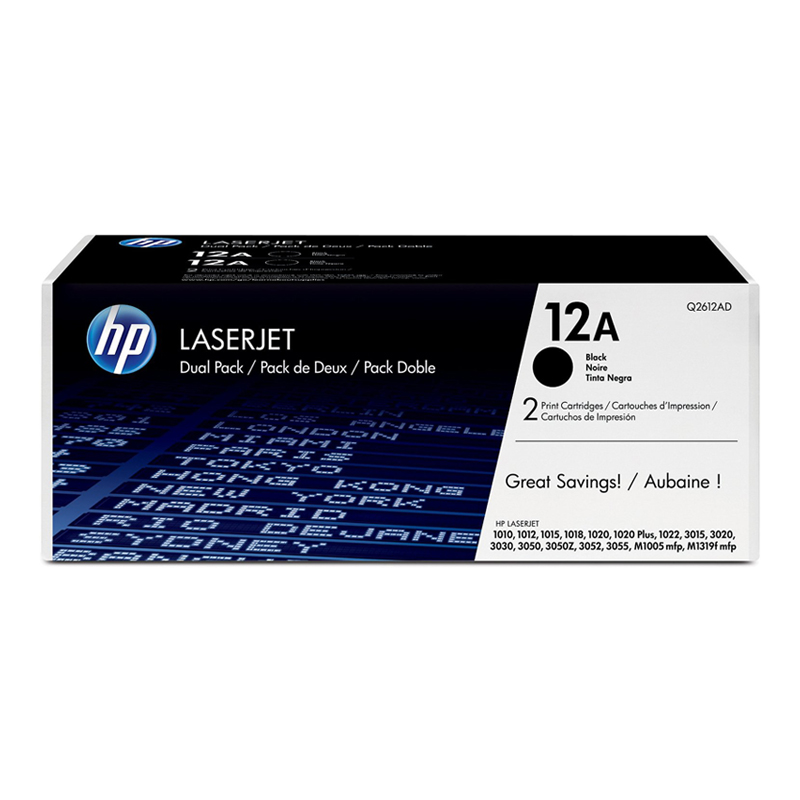 Hp/hp q2612a 12a original black toner cartridge (applicable 1020 3050 m1005 m1319f)