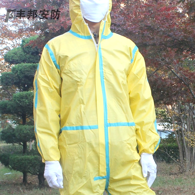 Hsbc state siamese protective disposable protective clothing piece hooded dust clothes clothing protective clothing experimental study of Room