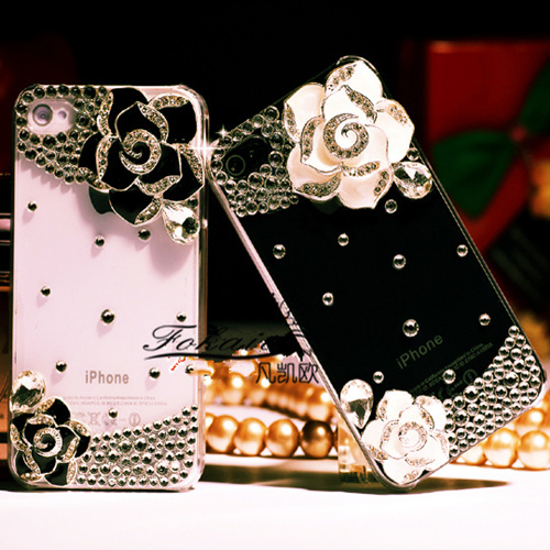Htc g15/c510e phone shell diamond Butterfly3/butterfly 3 d520 mobile phone sets with camellias