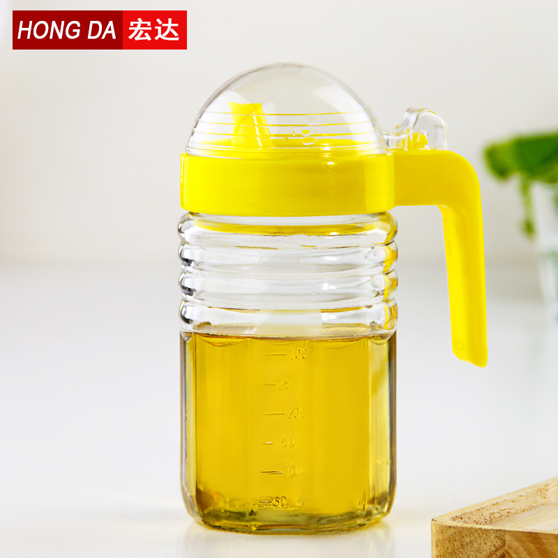Htc glass oiler kitchen supplies soy sauce vinegar condiment bottles youping glass tank of unleaded large leak back