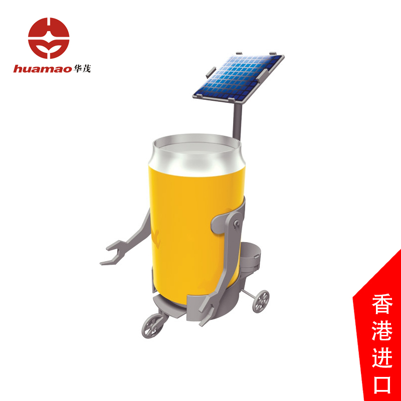 Huamao science solar power solar robot children's educational toys gift can converter