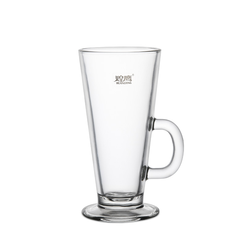 Huang ying glass cup coffee cup of latte coffee cup milkshake cup juice cup milk cup with the HY1789