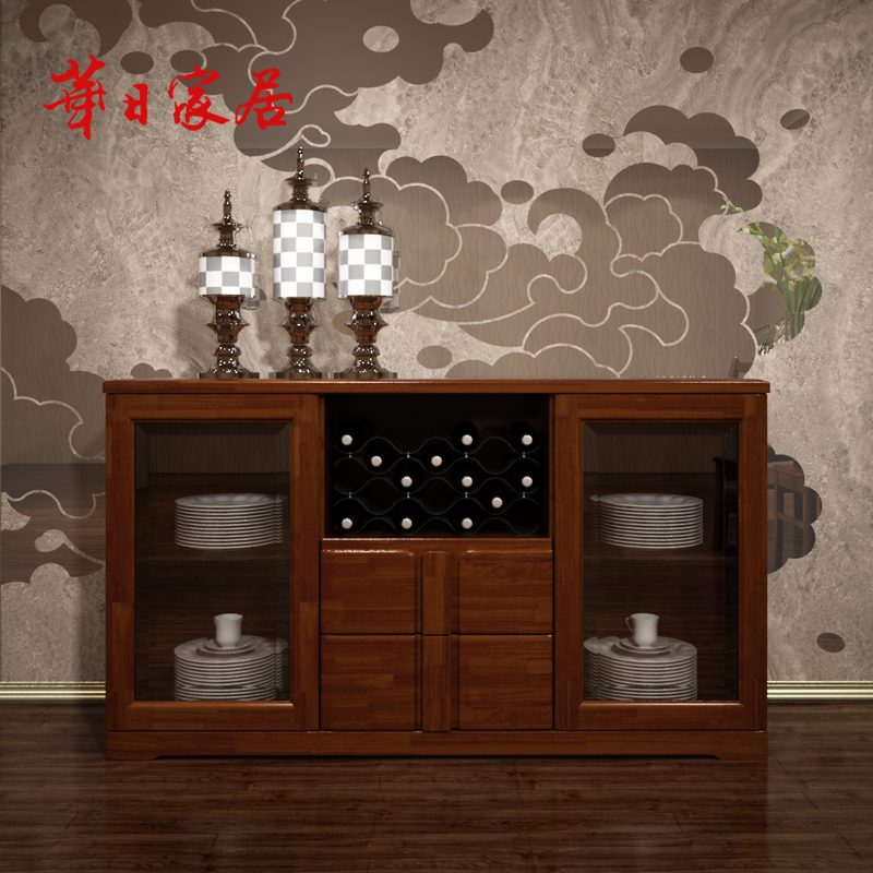 Huari home modern chinese solid wood furniture wood sideboard sideboard wine lockers storage cabinets h4