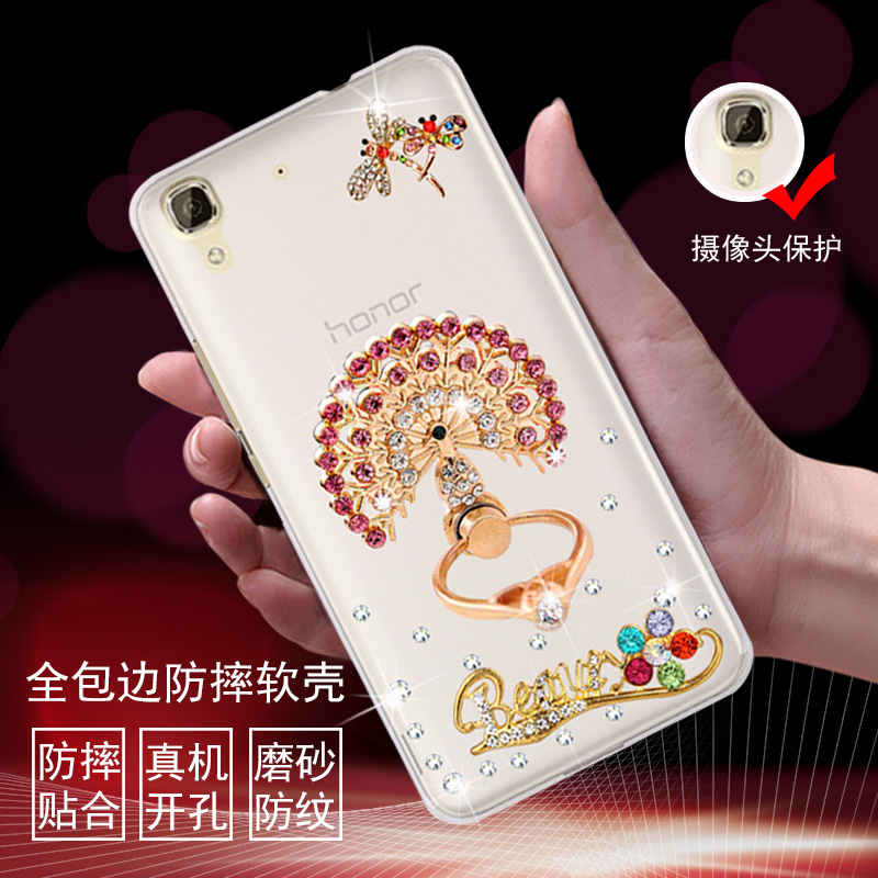 Huawei glory play 4x phone sets SCL-TL00 4a/cl00/AL00 rhinestone mobile phone shell protective sleeve soft silicone