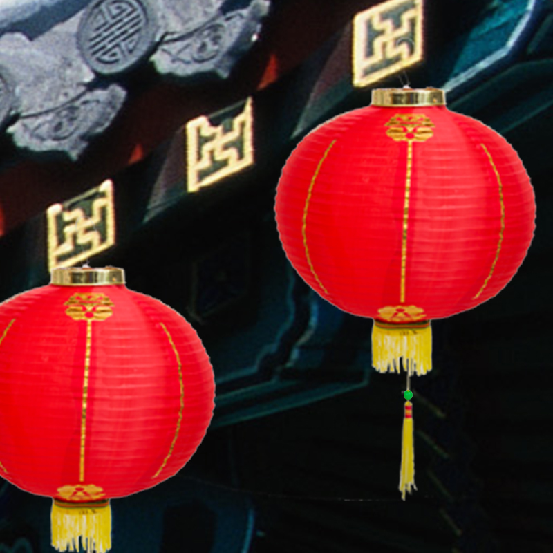 Hui hong outdoor waterproof red lanterns new year chinese new year festive holiday decorations supplies dance props lantern round