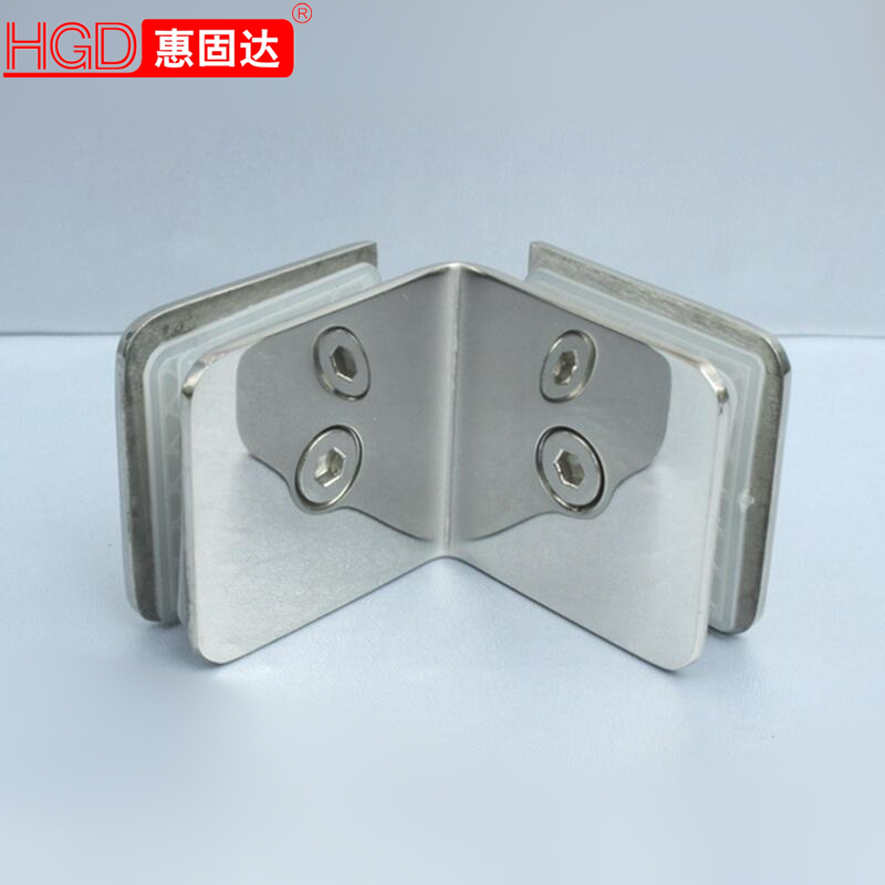 Hui solid bathroom clip shower glass clamp 304 stainless steel 90 degrees glass glass partition ç
