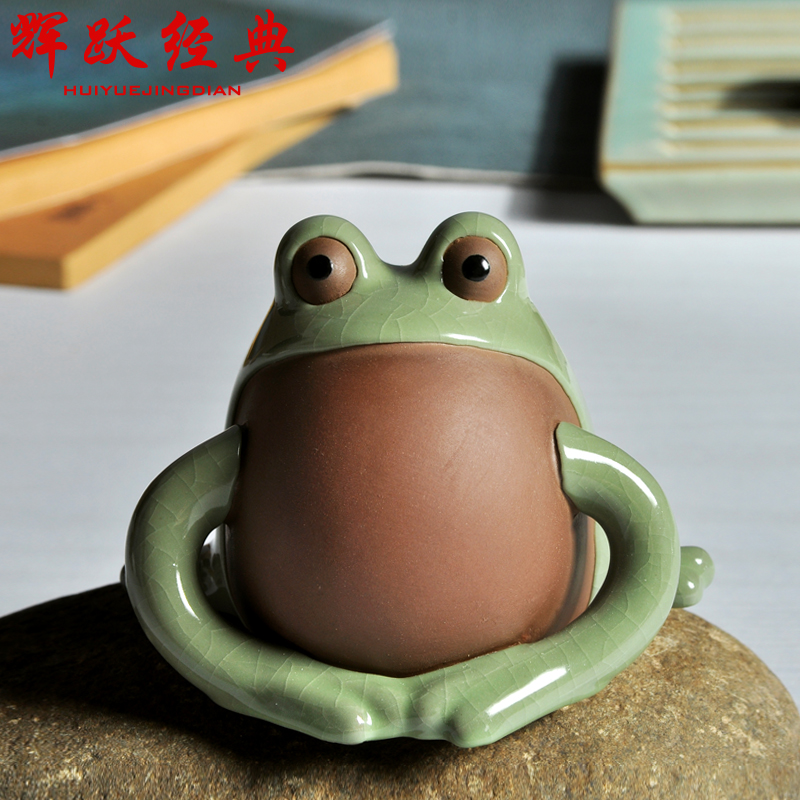 Hui yue classic tea boutique pet ornaments ge opening piece tea tea accessories tea play tea tea pet frog tkk