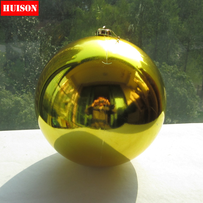 Huison christmas 15CM christmas ornaments plated ball light ball christmas tree ornaments christmas decorations supplies