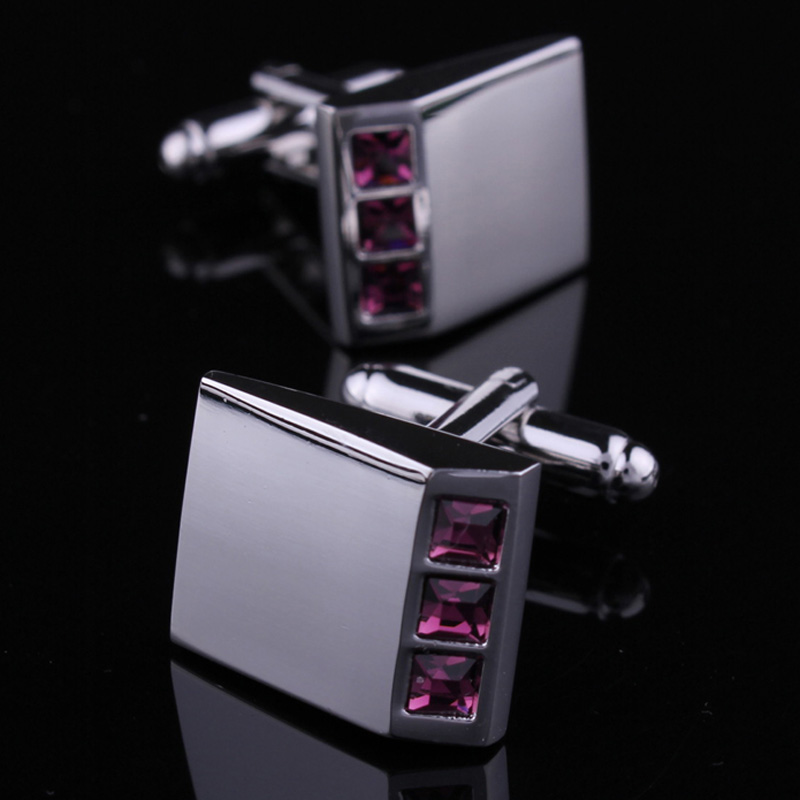 Hunting is still a romantic purple austrian crystal cufflinks cufflinks men's cufflinks french shirt cufflinks cuff