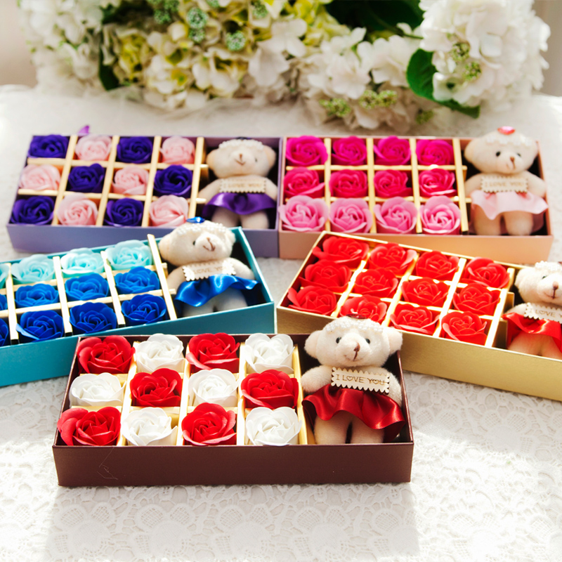 Buy Husband And Wife Rose Soap Flower Gift Ideas To Send His Girlfriend A Surprise Birthday Valentines Day In Cheap Price On Alibaba