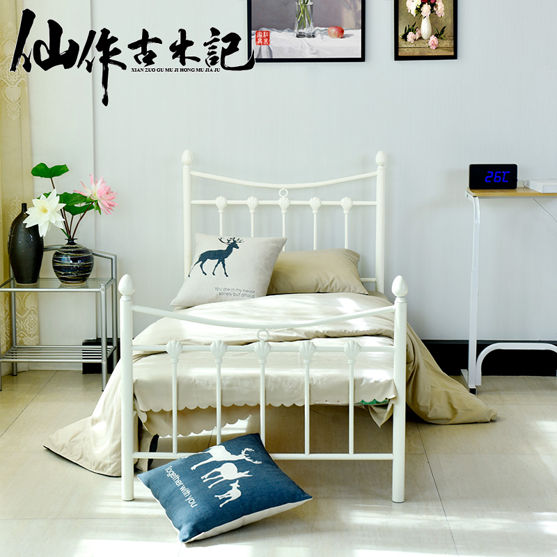 Get Quotations Hutchison Ancient Wrought Iron Beds Bed Student Metal Frame Modern Minimalist Wood Childrens