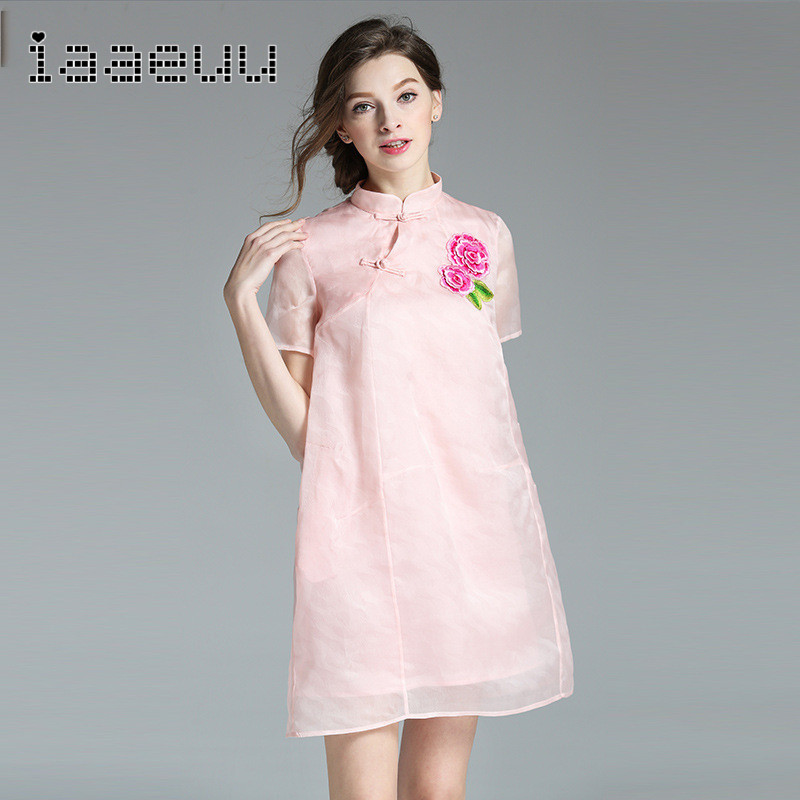 Iaaeuu comfortable and stylish 2016 new summer was thin jacquard embroidered short sleeve sweet set of head dress 7368