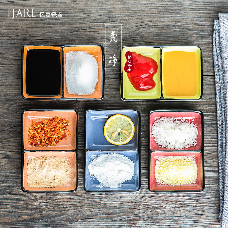 Ijarl billion ka creative japanese wind ceramic dish snack dish flavored weidie seasoning sauce dish dish dish of vinegar