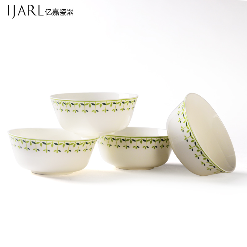 Ijarl billion ka korean creative minimalist large ceramic soup bowl rice bowl bowl set 4 installed a variety of