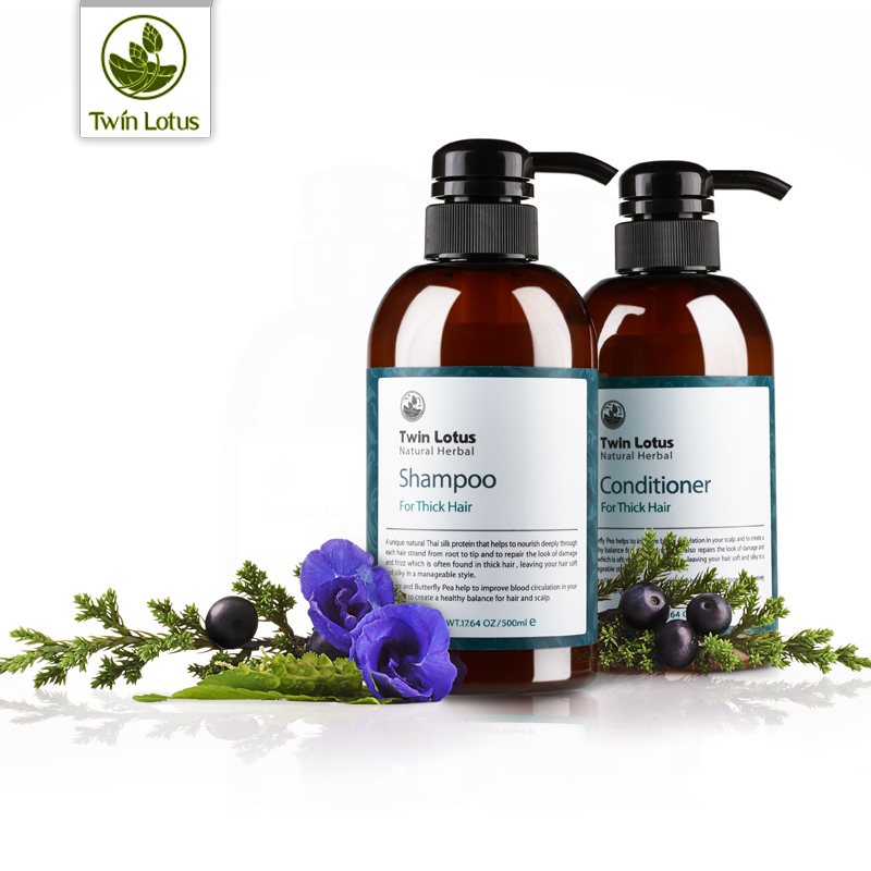 Imported from thailand imported double lotus natural plant supple and silky shampoo plus conditioner pefrson suit