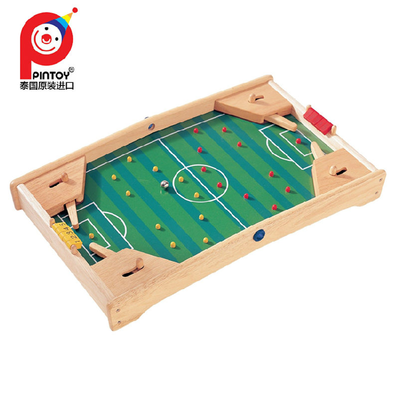 Imported pintoy wooden tabletop football game fun interactive toys foosball table soccer game boy gift
