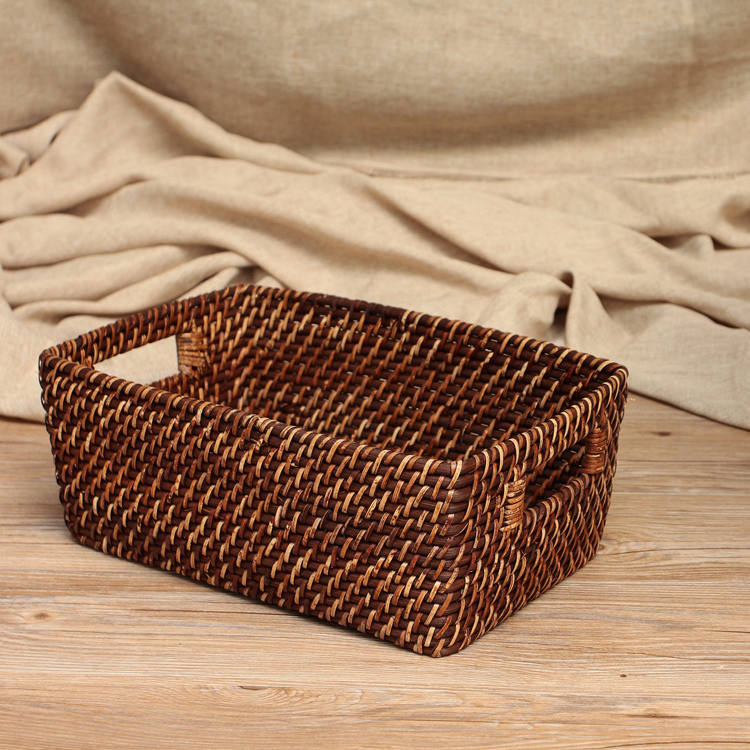 å¿å­imported rattan woven rattan storage basket storage baskets fruit basket of bread basket of dirty clothes storage free shipping deals