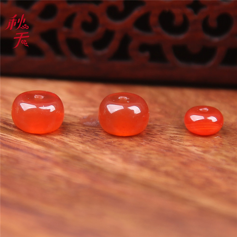 In the autumn of natural red agate loose beads spacer beads scattered across the abacus beads diy accessories accessories diamond moon and stars rosary beads buddha