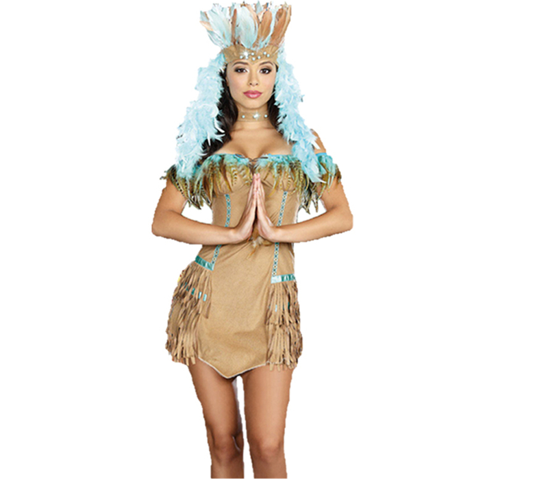 Indian female models costumes halloween costume masquerade costume savage savage clothes indigenous people's day costume costumes ds
