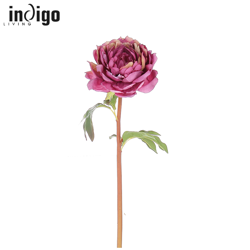 Indigo living in hong kong european home accessories simulation flower artificial flower peony silk flower artificial flowers living room decorative flower