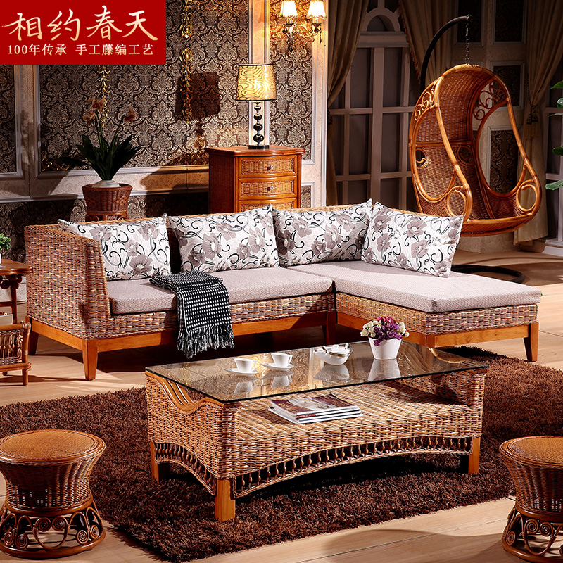 Indonesian rattan sofa rattan sofa rattan sofa rattan chaise corner sofa living room sofa l group in bamboo rattan sofa