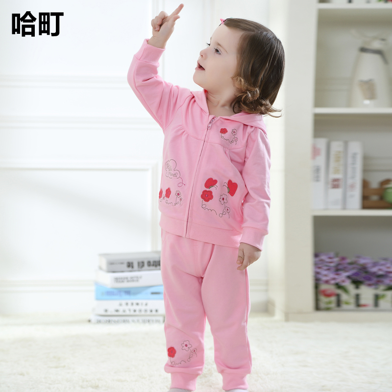Infant clothing suits 0-1-2-year-old 6-7-81-2-3-4-year-old months baby clothes autumn female baby autumn new children's clothing