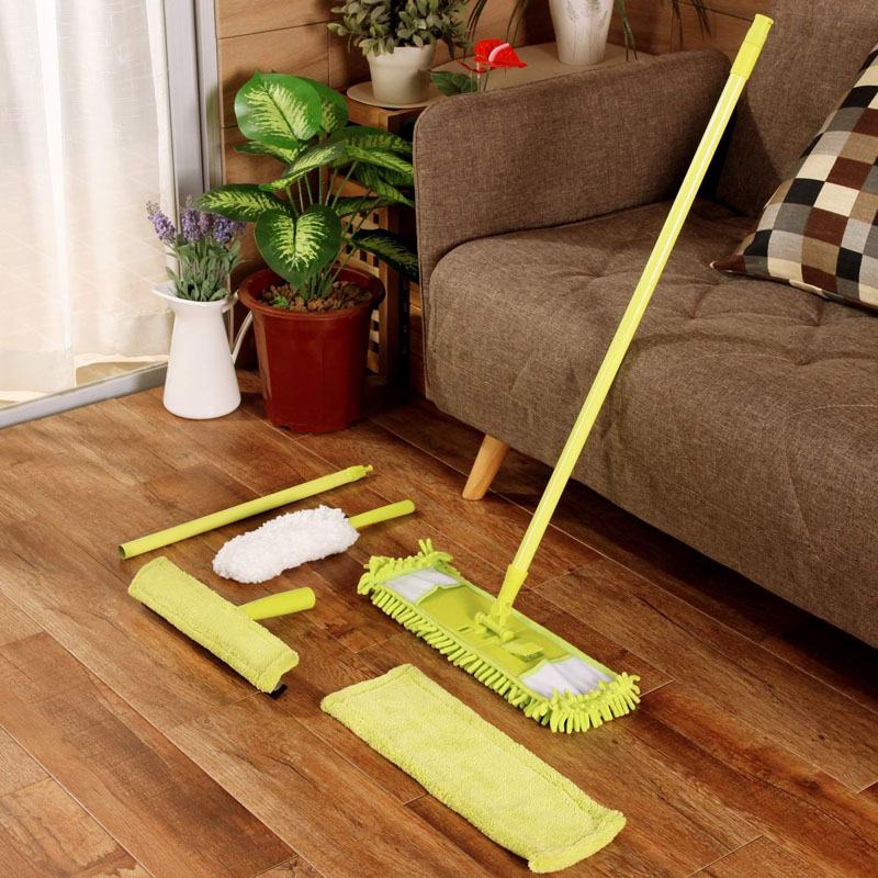 Influx of westernä¸æ½®chenille cleaning kit flat mop cloth to replace the glass window cleaning electrostatic dust duster