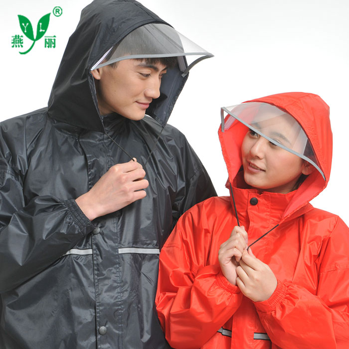 Ini single reflective split raincoat electric car motorcycle riding raincoat rain pants suit adult men and ladies